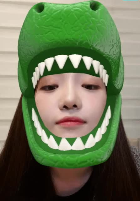 Watch and share Jisun Trying Dino Filter GIFs on Gfycat
