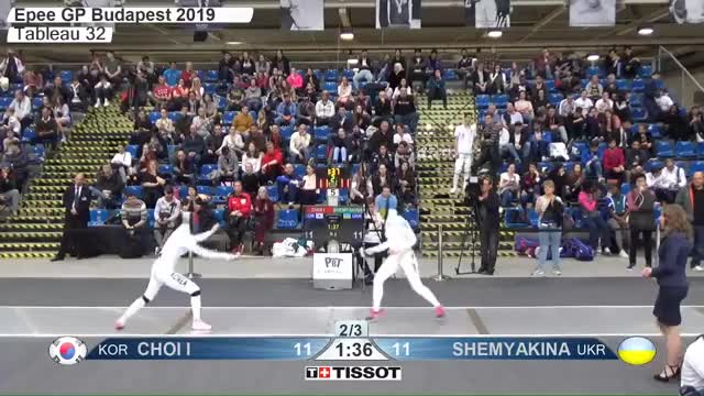 Watch CHOI I 12 GIF by Scott Dubinsky (@fencingdatabase) on Gfycat. Discover more gender:, leftname: CHOI I, leftscore: 12, rightname: SHEMYAKINA, rightscore: 12, time: 00015454, touch: double, tournament: budapest2019, weapon: epee GIFs on Gfycat