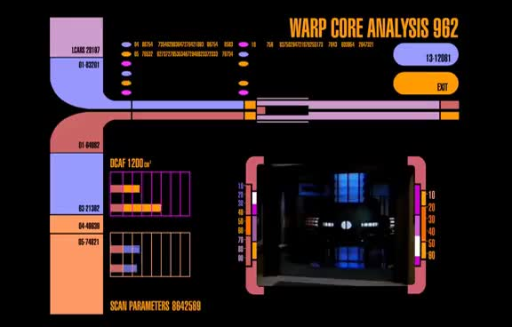 Watch Star Trek LCARS  - Warp Core Analysis GIF on Gfycat. Discover more related GIFs on Gfycat
