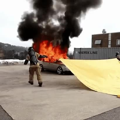 Watch and share Car Fire Blanket GIFs on Gfycat