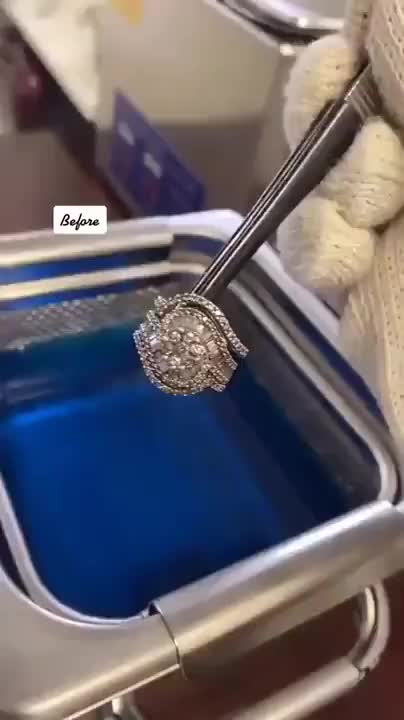 Watch and share Cleaning-a-Diamond-Ring-with-an-Ultrasonic-Bath GIFs by aint-no-user on Gfycat