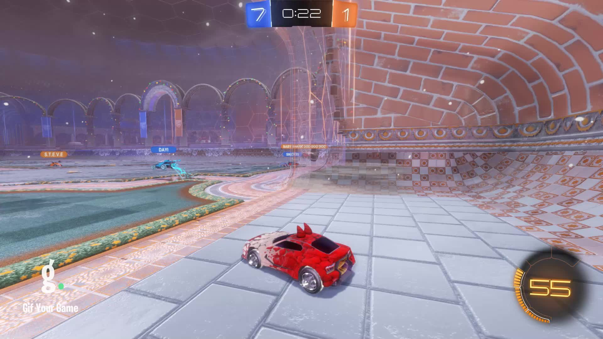 Gif Your Game, GifYourGame, Goal, Nox, Rocket League, RocketLeague, Goal 9: Baby Shark doo doo doo GIFs