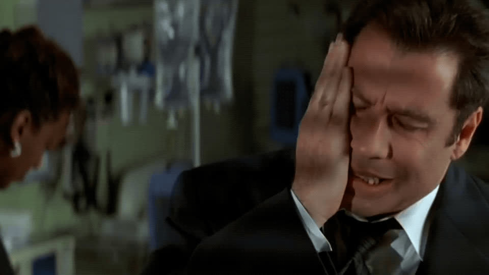 disappointed, face off, face palm, frustrated, john travolta, stressed, upset, John Travolta Disappointed GIFs