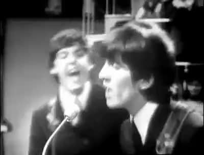 george, hair, music, the beatles, The Beatles GIFs