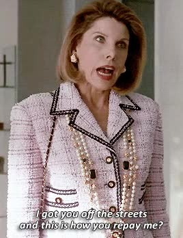Watch and share Christine Baranski GIFs on Gfycat