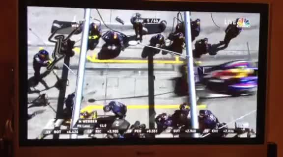 Formula 1, Mark Webber Tire Fail GIFs