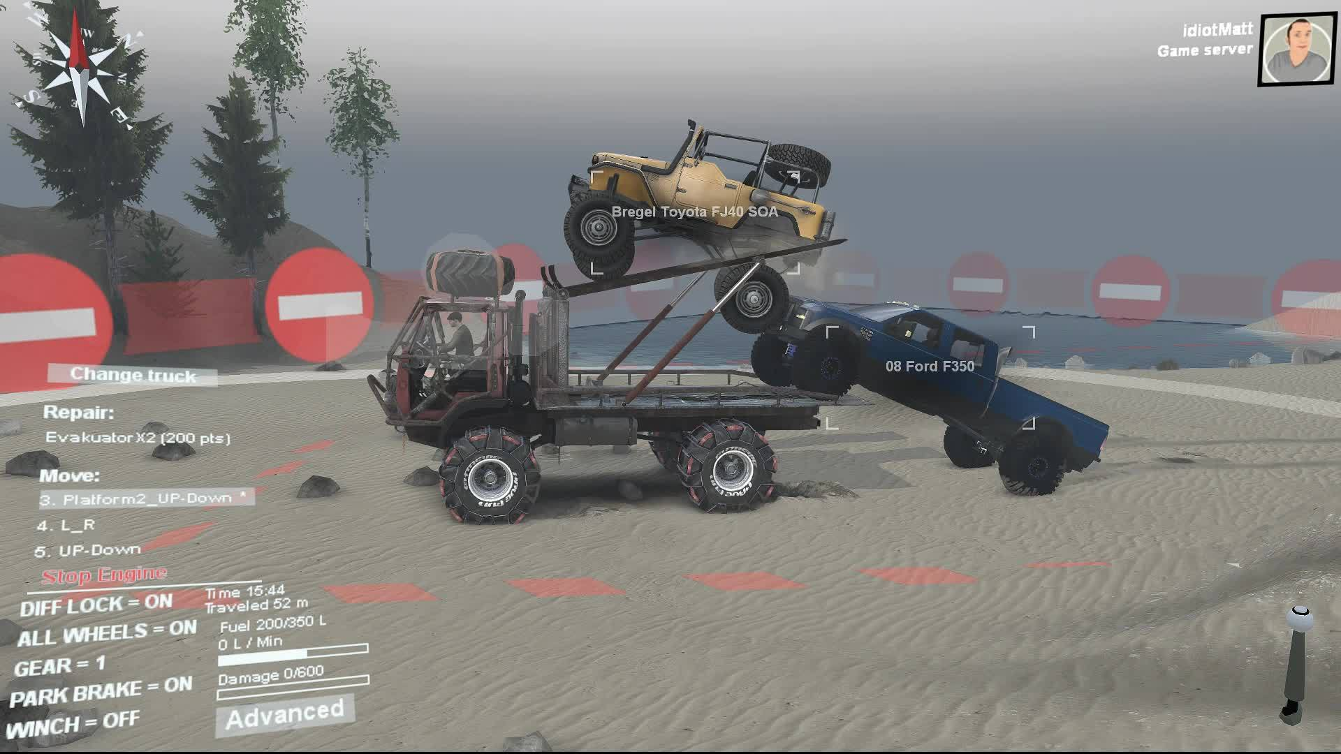 fail, spintires, Spintires - Not how I imagined this would go GIFs