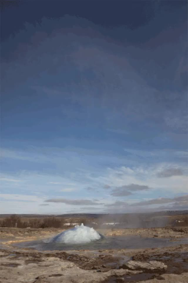 Watch Geysir, Iceland GIF on Gfycat. Discover more related GIFs on Gfycat