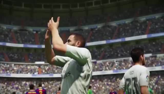 james rodriguez, soccer, Real Madrid in FIFA 16 ft. Ronaldo, Benzema, Rodríguez GIFs