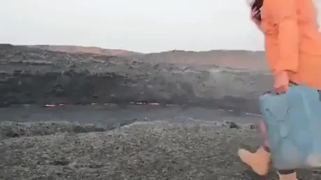 Watch Tossing-a-container-of-water-into-a-crater-of-lava GIF by Vedant Chaudhary (@vedant) on Gfycat. Discover more related GIFs on Gfycat