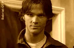 Watch this GIF on Gfycat. Discover more Sam Winchester, Sam x reader, Supernatural, anon, asks, drabble games, fluff, obnoxious fluff, reader insert, smut implied, spn fluff, spn one shots, supernatural one shots GIFs on Gfycat