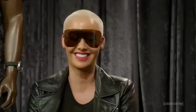 amber rose, The Eric Andre Show - Amber Rose Interview (S04E07) GIFs