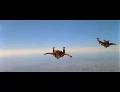 Point Break Skydiving scene GIFs