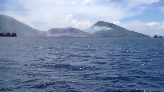 Watch and share Volcano Eruption In Papua New Guinea GIFs by peterm on Gfycat