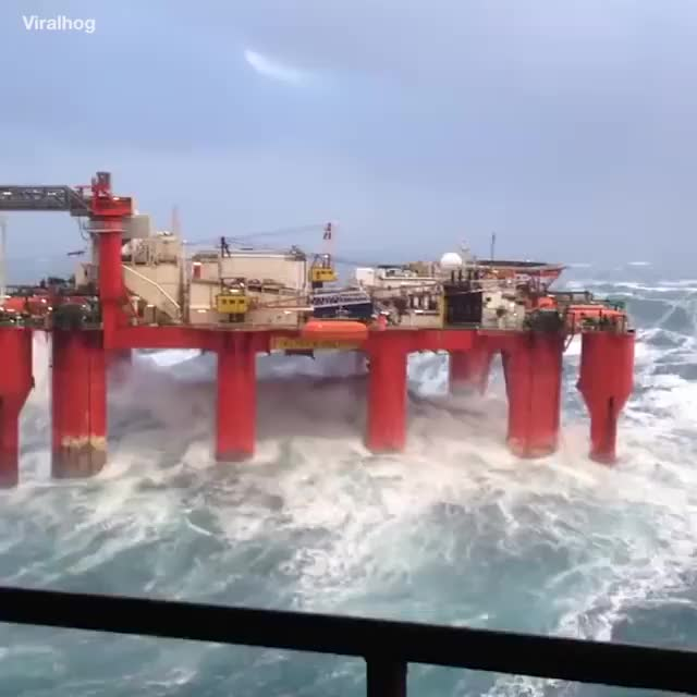 Watch and share So, You Wanna Work On An Offshore Rig...? 😳😱 GIFs on Gfycat