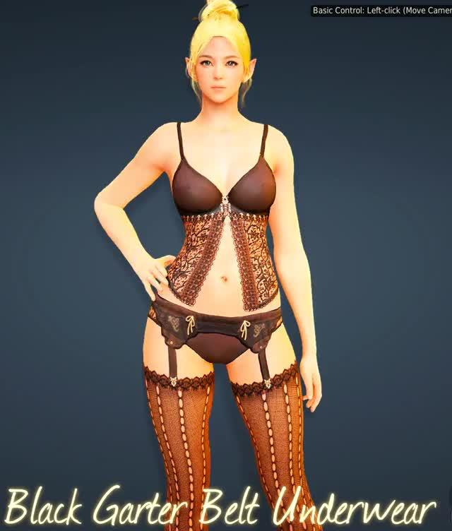 BDO - Female Underwear - Black Garter Belt Underwear