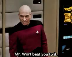 Watch and share Jean Luc Picard GIFs and Patrick Stewart GIFs on Gfycat
