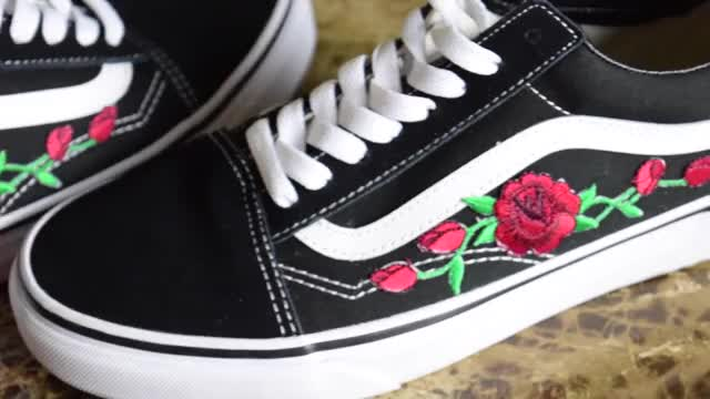 469591910b1e Watch DIY Rose Patch Vans GIF on Gfycat. Discover more jea jackets