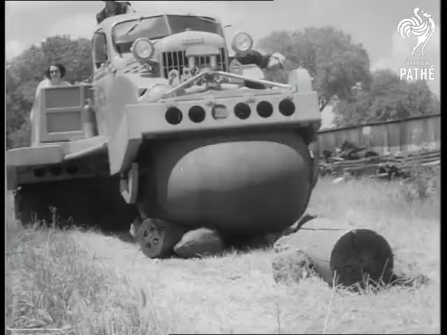 """Watch """"Rolligon"""" Rolls To It! (1953) GIF by pmmesteamk3ys on Gfycat. Discover more 53/043, 90.07, Albee, Rolligon, U.S.A., William, army, inventions, soldiers, tanks GIFs on Gfycat"""