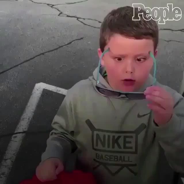 Watch Colorblind kid seeing colors for the first time GIF by tothetenthpower (@tothetenthpower) on Gfycat. Discover more related GIFs on Gfycat