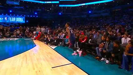 Watch and share Dennis Smith Jr. Ft. J. Cole — 2019 Slam Dunk Contest GIFs by Off-Hand on Gfycat