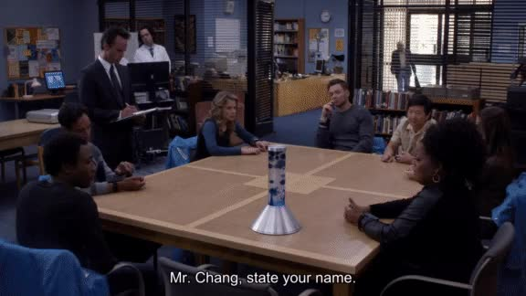Watch and share Danny Pudi GIFs and Ken Jeong GIFs on Gfycat