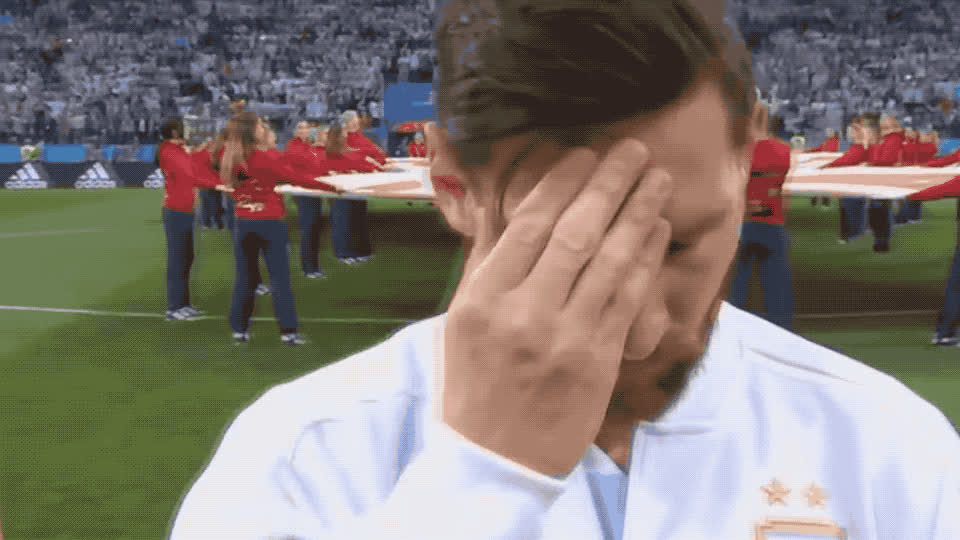 alone, argentina, cold, cup, disappointed, flu, get, head, headache, lose, lost, messi, rub, sad, sick, soon, tired, tiring, well, world, Messi has a headache GIFs