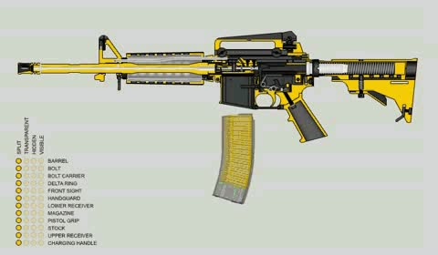 Watch and share Animation Of How An AR15 Works (gif) : Guns GIFs on Gfycat