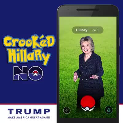 Watch and share Crooked Hillary: NO GIFs on Gfycat
