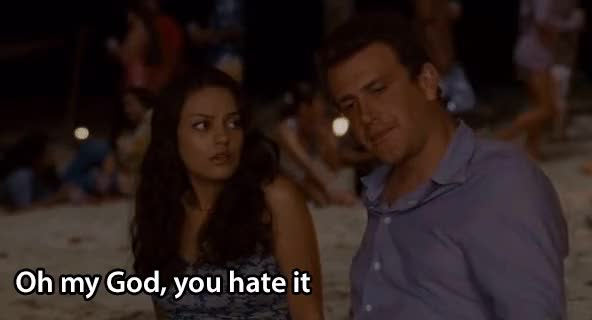 Watch and share Jason Segel GIFs and Mila Kunis GIFs by reactionclub on Gfycat
