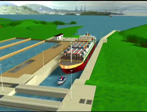 Watch and share Panama Canal, New Third Set Of Locks, Engineering Animation GIFs on Gfycat