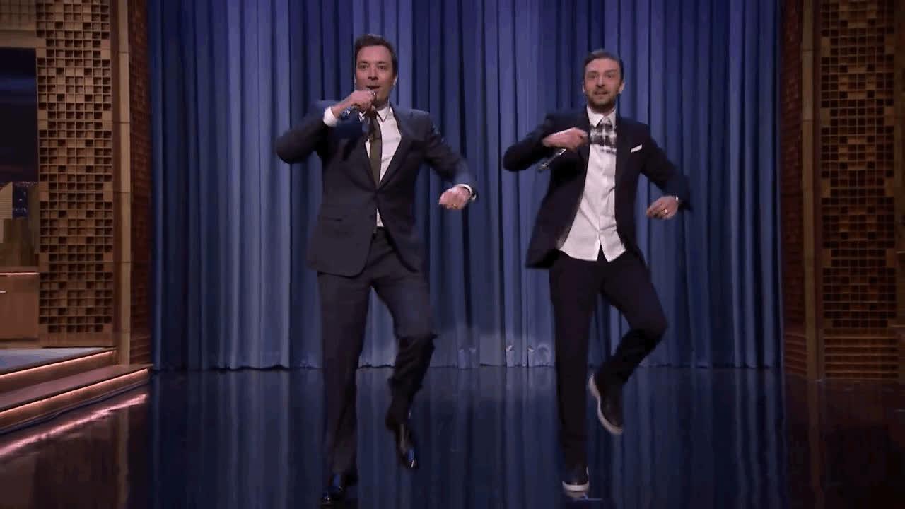 awesome, dance, dancing, fallon, jimmy, justin, justin timberlake, timberlake, Dancing like GIFs