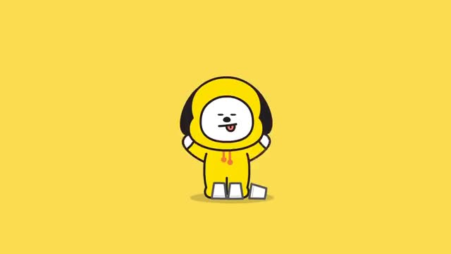 Watch and share [BT21] Hi~ I Am CHIMMY GIFs on Gfycat