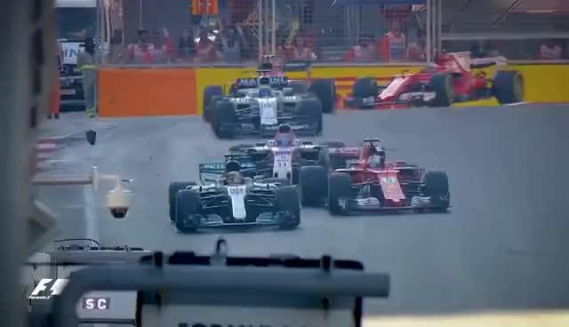 Watch and share Hamilton And Vettel's Clash Examined | 2017 Azerbaijan Grand Prix GIFs on Gfycat