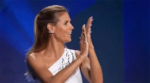 Watch and share Heidi Klum GIFs by Yuyu on Gfycat