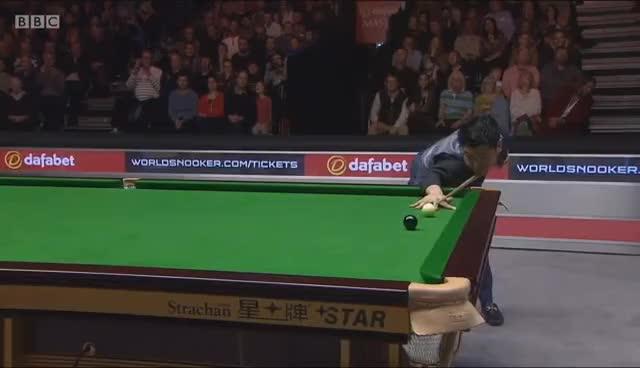 Ronnie O'Sullivan v Liang Wenbo ᴴᴰ 2017 Masters Snooker GIFs