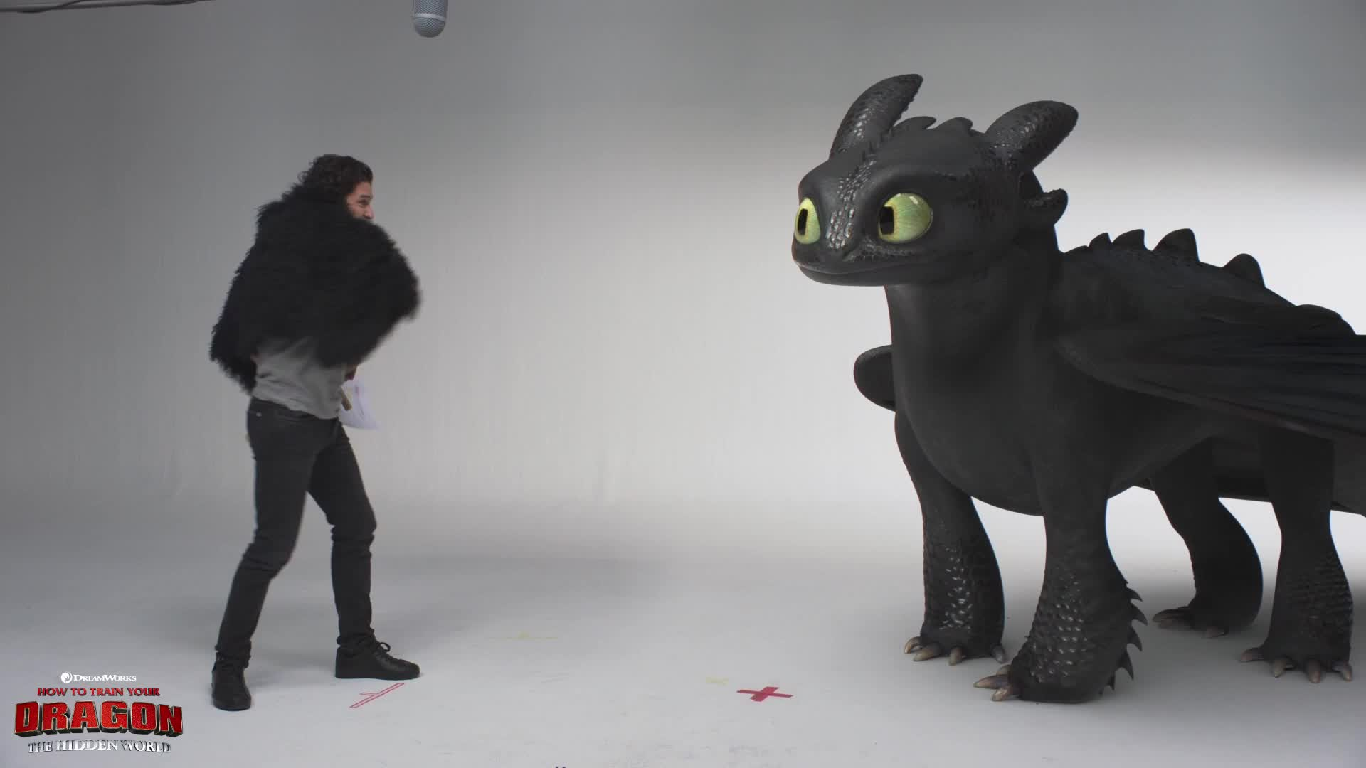 funny, how to train your dragon, how to train your dragon the hidden world, httyd, httyd3, kit harington, toothless, Toothless and Kit Intense Scene GIFs