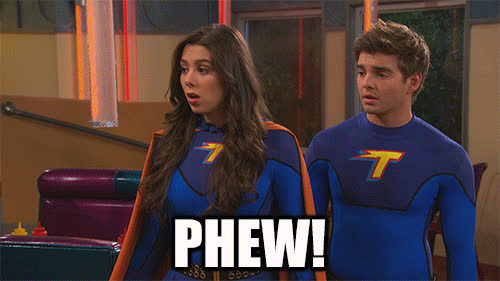 reaction, nickelodeon, relief, phew, thundermans, kira kosarin, pheobe thunderman GIFs