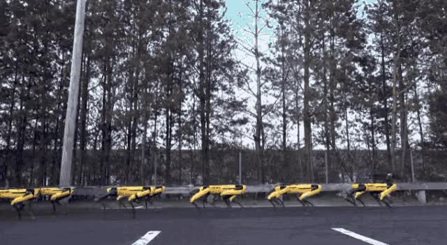 Watch and share Robot Dogs Pull A Heavy Truck. That Is Boston Dynamics Produced. GIFs on Gfycat