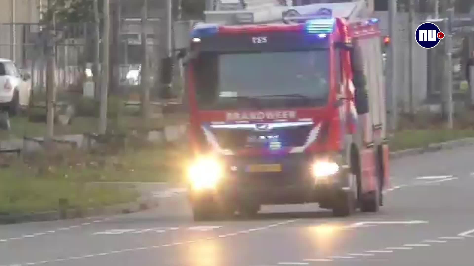 crash accident, engine, fire, groningen, netherlands, reddit, roadcam, truck, 2 cars T-bone a firetruck in Groningen (NL) GIFs