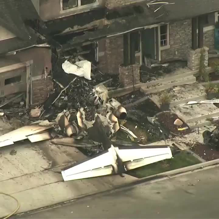 Utah man crashes plane into his own house after assaulting wife. GIFs