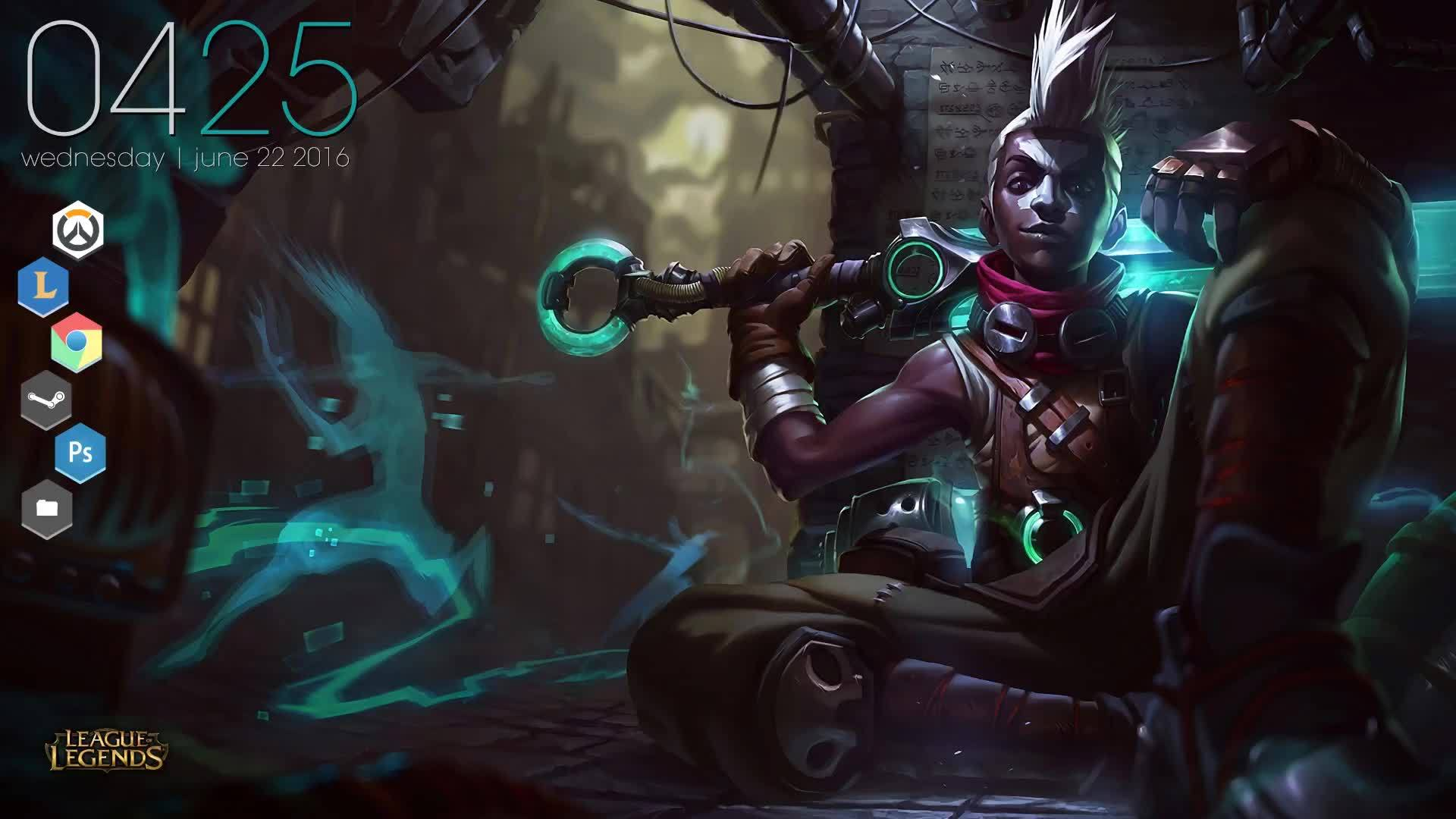 Rainmeter, ekkomains, rainmeter, I made a rainmeter from ekko's splash art. figured you guys would like it. (reddit) GIFs