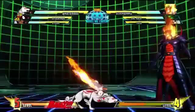 Watch and share Marvel Vs Capcom 3 GIFs and Amaterasu GIFs on Gfycat