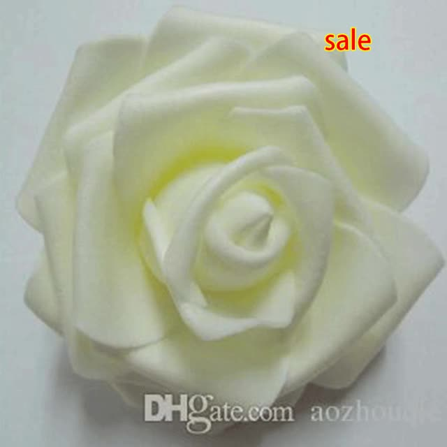 Watch and share Wedding Rose Balls Wedding - Cm Handmade Artificial Foam Rose Flower Heads For Wedding Decoration Kissing Ball GIFs on Gfycat