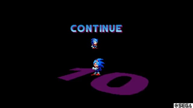 Watch and share Sonic Mania Continue Screens With All Characters Including Sonic & Tails GIFs on Gfycat