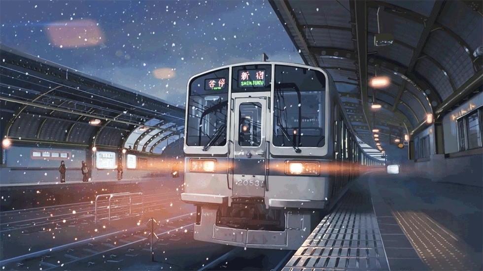 Train Station From The Movie 5 Centimeters Per Second Reddit Gif Find Make Share Gfycat Gifs