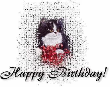 Watch and share Birthday, Happy Birthday, Cat Birthday, Glitter Birthday, Kitty GIFs on Gfycat