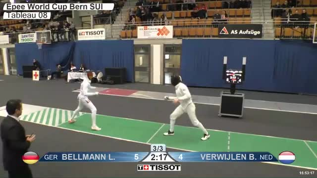Watch BELLMANN Lr 6 GIF by Scott Dubinsky (@fencingdatabase) on Gfycat. Discover more gender:, leftname: BELLMANN Lr, leftscore: 6, rightname: VERWIJLEN B, rightscore: 4, time: 00023062, touch: left, tournament:, weapon: epee GIFs on Gfycat