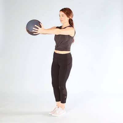 Watch and share 400x400 Davis Medicine Ball Moves Single Leg Deadlift GIFs by Healthline on Gfycat