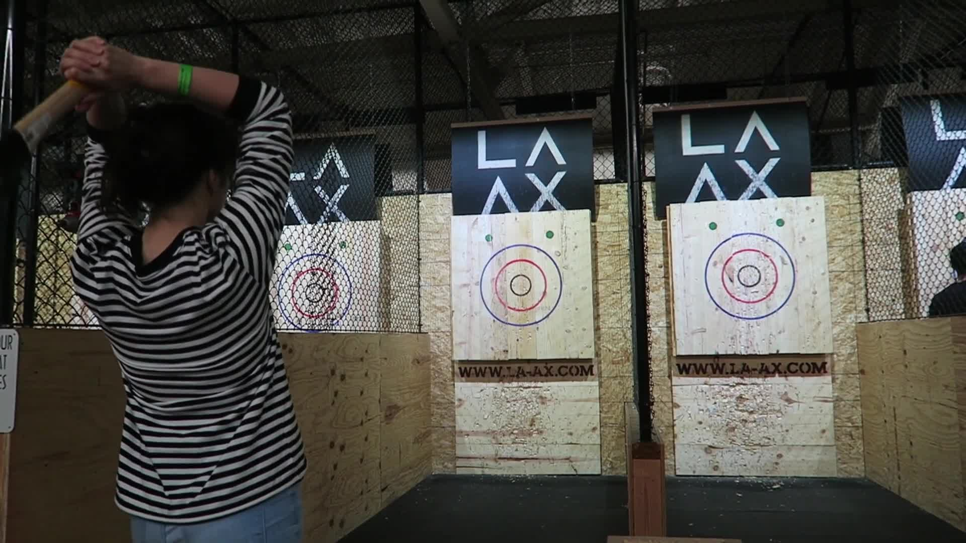 k8, kaitlin witcher, kaitlinwitcher, kate, piddleass, throwing, vlogger, vlogging, vlogs, witcher, Drinking Adult Eggnog and Throwing Axes!!! - Vlogmas Day 20 GIFs
